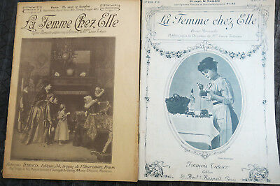 La Femme Chez Elle 1905 and 1910 With Tracing enclosed