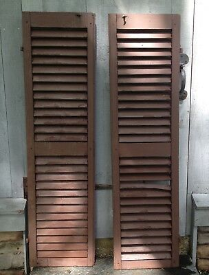 Pair of Antique Wood Shutters from New England Home (1800s)