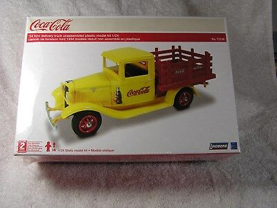 Lindberg 1934 Ford Delivery Truck Coca Cola Plastic Model Kit 1:24