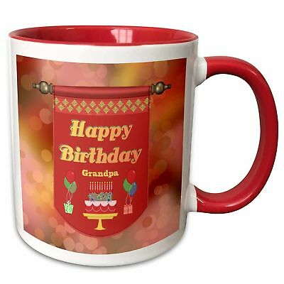 Happy Birthday Grandpa Banner Cake With Gifts And Balloons Coffee Mug