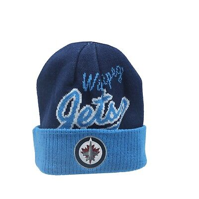 aeea9e8df11 Winnipeg Jets NHL Reebok Youth Boys (8-20) Cuffed Winter Beanie Hat Cap