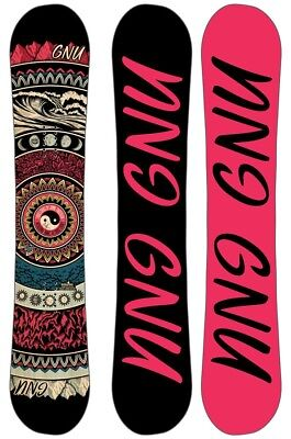 GNU Ladies Choice Women's Hybrid Camber Snowboard, 151.5cm 2019