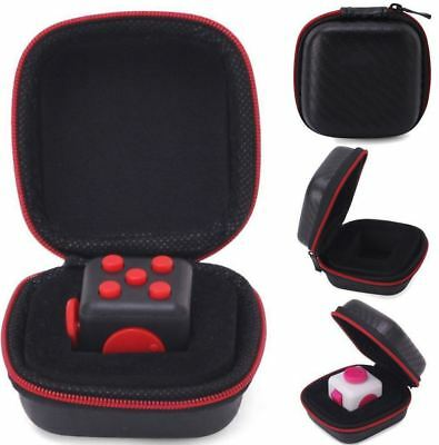Fidget Cube Carry Case Anxiety Stress Relief Dice Bag Packet Fun Toy Adults Kids