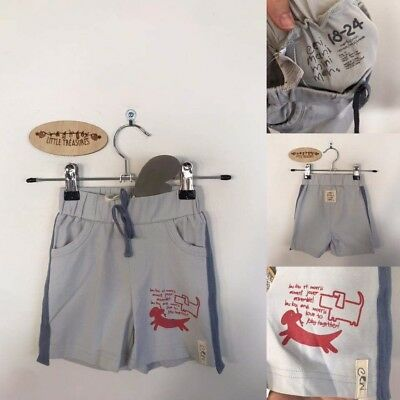 Sz 18-24m E3M pale blue shorts