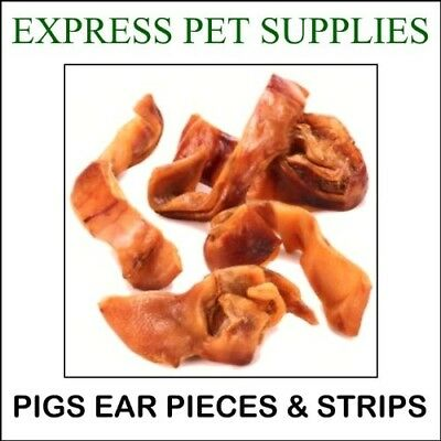 3kg Pigs Ear Pieces Strips Inners Dog Treat Chews Food Snack Small Dogs Dried N