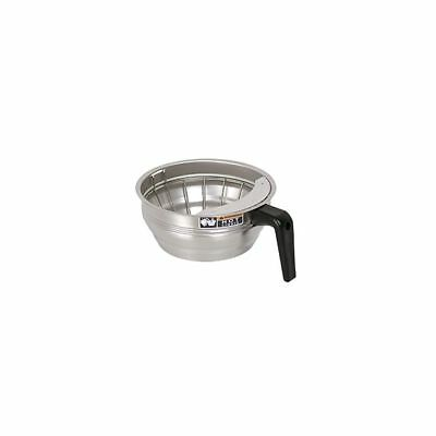 BUNN 20217 Stainless Steel Funnel Assembly with Black Handle