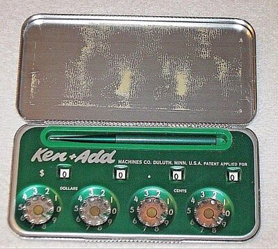 Ken+Add Machine Co. -  Mechanical Calculator, Duluth, Minnesota - Original Case