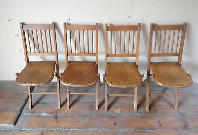 Set Of 4 V.Rare Early 20th century Fischel Folding Chairs