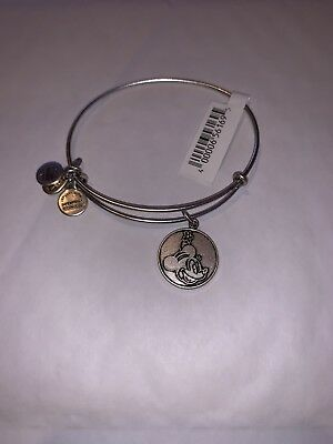 ALEX AND ANI DISNEY PARK Minnie Mouse Flower Silver CHARM BRACELET NEW RETIRED