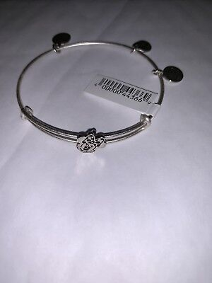 Disney Parks Alex and Ani Minnie Mouse Slider Bangle Bracelet Silver NWT