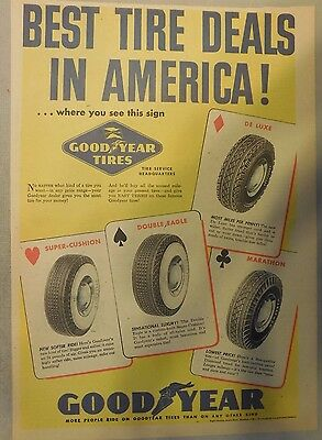 Goodyear Tires Ad from 1920's - 1950's from Newspaper Magazine
