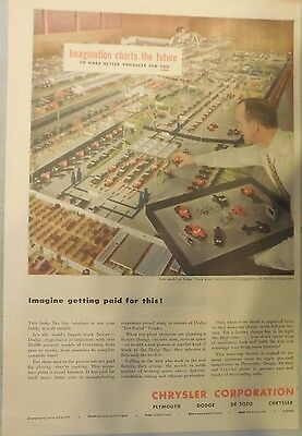 Chrysler Corporation Production Ad: 1949 from Newspaper Magazine.