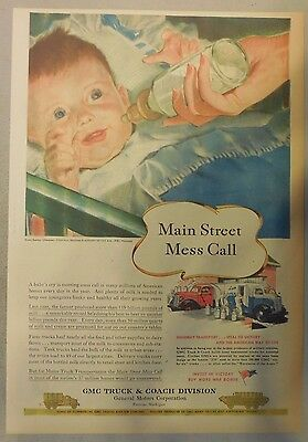General Motors Production Ad from 1945 Newspaper Magazine