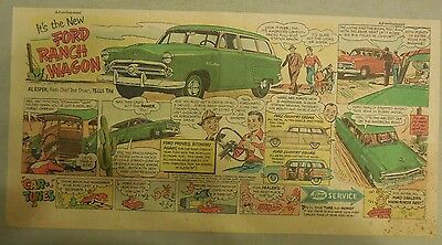 """Ford  Ad: """"It's The New Ford Ranch Wagon""""  from 1952"""