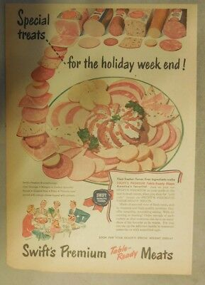Swift and Company Ad: Swift's Premium Cold Cuts from 1940's Size: 11 x 15 inches