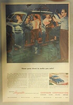 Chrysler War Production Ad: These Guns Shoot To Make You Safe ! From 1946