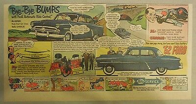 """Ford  Ad: """"Bye-Bye Bumps with Automatic Ride Control""""  from 1952"""