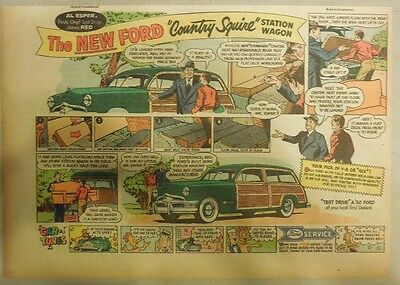 """Ford  Ad: """"The New Ford Country Squire Station Wagon""""  from 1950"""