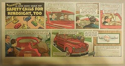 "Ford  Ad: ""Safety Calls For Hindsight, Too""  from 1940's"