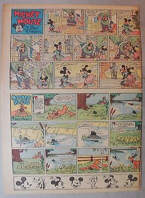 Mickey Mouse Sunday Page by Walt Disney from 10/9/1938 Tabloid Page Size
