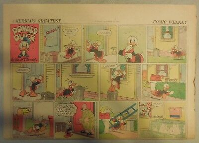 Donald Duck Sunday Page by Walt Disney from 10/18/1942 Half Page Size