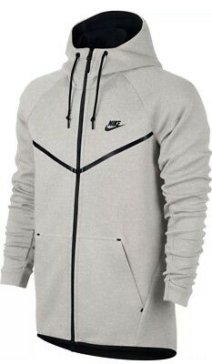 eca019d8b0f5 Nike Tech Fleece Windrunner Hoodie Light Bone Black 805144 072 Us Mens Sz  Xxl