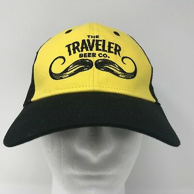 The Traveler Beer Co Mustache Mesh Trucker Snapback Hat American Craft  Shandy 2 4e7ea2b2b331