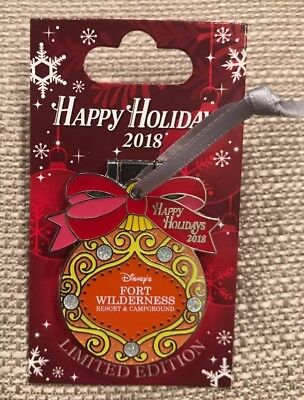 Disney Happy Holidays 2018 Fort Wilderness Resort Pin LE 1500 Chip And Dale