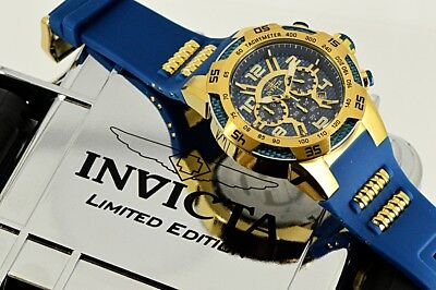 Invicta 50mm Speedway Viper II Blue Dial GP Case Chronograph Blue Strap Wa