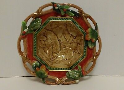 """Fitz and Floyd Classics Christmas Lodge 9"""" Bowl Collectible"""