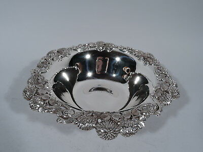 Tiffany Clover Bowl - 13780 - Antique Gilded Age - American Sterling Silver