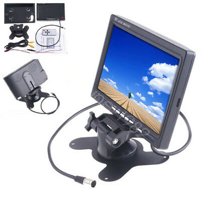"For Car Rear View GPS Backup Camera 7"" LCD Monitor Display 2 RCA Video Input"