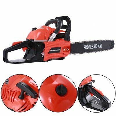 """2.3KW 62cc Petrol 20"""" Chainsaw 2-Stroke Engine Carry 0.325"""" STE6200 Chain Wrench"""