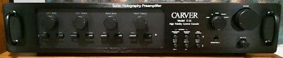 CARVER C-11 Preamp Faceplate, Black with Handles and Hardware *NEW*