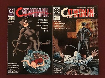 Catwoman #1 and #2 (Feb 1989, DC) Mindy Newell JJ Birch Michael Bair