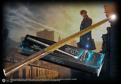 """Newt Scamander Light-Up Wand 14"""", Authentic Noble Collection, Fantastic Beasts"""