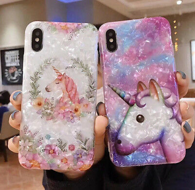Soft Silicone Shell Unicorn Full Phone Case For iPhone XS MAX XR X 8 7 6 6s Plus