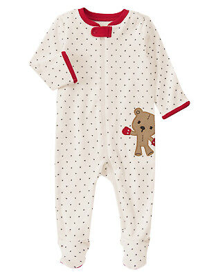 2ba233deb NWT GYMBOREE BEAR Fair Isle Christmas Holiday Sleeper Footed 1PC Boy ...