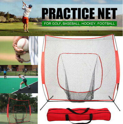 Portable Baseball Training Net Stand Softball Practice Sports Tennis 210CM