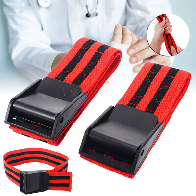 2x Rot Trainingsbänder Blood Flow Restriction Occlusion BFR Training Bands 60cm