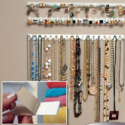 9Pc Jewelry Wall Hanger Holder Stand Organizer Necklace Bracelet Perfect