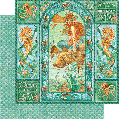 """G45 - Voyage Beneath the Sea D/Sided Cardstock 12""""X12"""" - Voyage Beneath the Sea"""