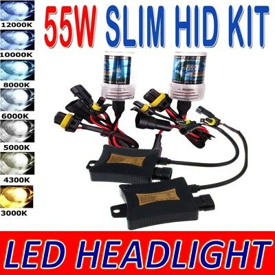 55W HID Xenon Headlight Replacement CONVERSTON Kit H1 H3 H4 H7 H11 H13 9005 9006