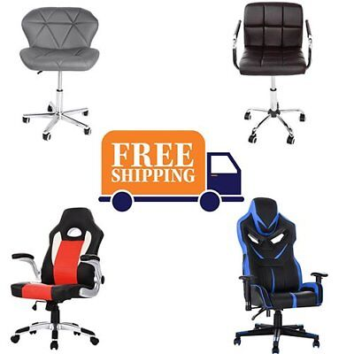 Executive Racing Gaming Computer Office Chair PU Adjustable 360°Swivel Recliner