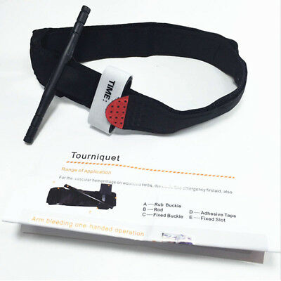 Tourniquet - Rapid One Hand Application, Emergency or Outdoor First Aid Kit Must