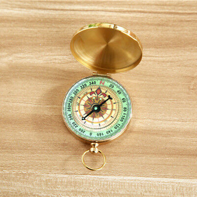 Transitional Brass Compass Pocket Watch Style Antique Camping Hiking Gift Hot