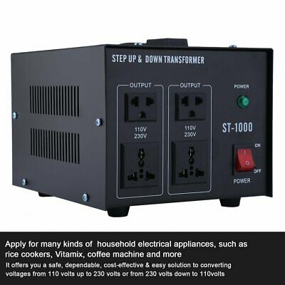 1000W Step UP&Down Converter Transformateur de Tension 230V-110V AC Voltage HC