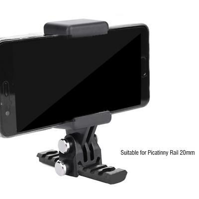 Tactical Rotary Fixed Mount for Gopro Hero Mobile Phone for Picatinny Rail 20mm