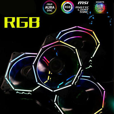 RGB Wreaths LED RGB Colorful LED Ring PC 12cm Case Fan + Controller