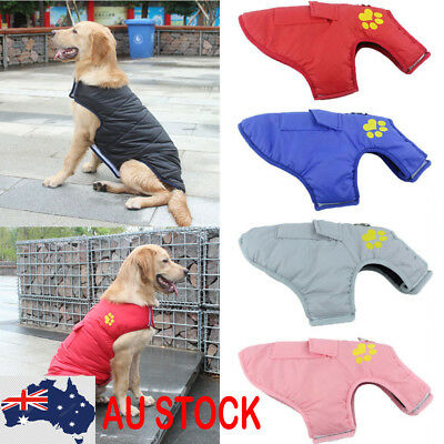 Medium Large Pet Dog Fleece Coat Winter Warm Jacket Windbreaker Clothes Outfits#